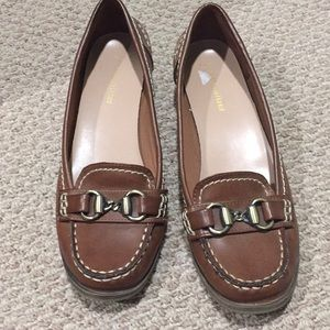 Brown size 9 loafers